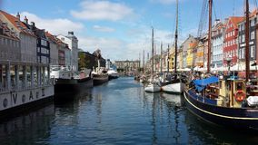 New Harbour in Copenhagen stock photography