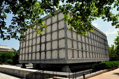 New Haven CT: Beinecke arkiv på Yale University Royaltyfri Foto