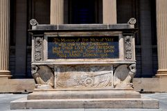 New Haven, CT: Yale University World War I Memorial Stock Photos