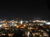 New Haven at Night Royalty Free Stock Photo