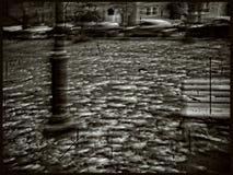 New Haven, queda & ventoso no quadrado de Wooster, grupo de nove trabalhos Imagem de Stock