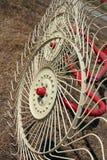 New hay raker farm equipment. Stock Image
