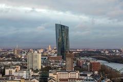 New headquarters of the European Central Bank or ECB. Frankfurt,. FRANKFURT AM MAIN, GERMANY - JAN 13, 2017: New headquarters of the European Central Bank or ECB Stock Photos