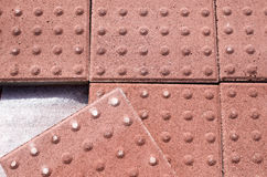 New heap of red paving for the blind Stock Images