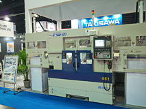new heavy machine in metallex 2014 bangkok,thailand Royalty Free Stock Images