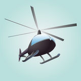 New helicopter flight  drawing in sky Stock Photos