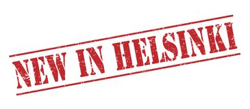 New in Helsinki  stamp. New in helsinki  red stamp isolated on white background Royalty Free Stock Photo