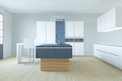 New hi-tech kitchen interior room stock illustration