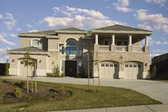 New High End Tract Home Home Royalty Free Stock Photography