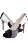 New high-heeled shoes isolated Royalty Free Stock Photos