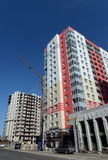 New high-rise apartment building in Barnaul. Royalty Free Stock Photos