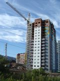 new high rise building under construction Royalty Free Stock Photo