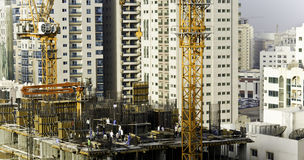 New high rise buildings. Under construction Royalty Free Stock Photo
