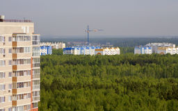 New high-rise buildings in a forested area of the city of Chelyabinsk. Stock Images