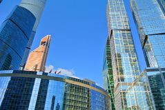 New high-rise skyscrapers Moscow-City stock photo