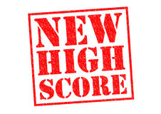 NEW HIGH SCORE Royalty Free Stock Photo