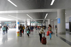 The new high-speed railway station hall Stock Image