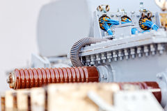 New high voltage transformer Stock Images