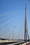 New highway bridge in Belgrade, Serbia Royalty Free Stock Photos