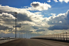 New highway bridge. In Moscow Royalty Free Stock Image