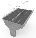 New Highway Bridge Under Construction Royalty Free Stock Photo