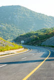 The new highway from the capital to the sea in Montenegro stock image