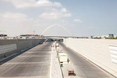 New highway construction in Doha, Qatar Stock Image