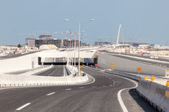 New highway construction in Doha, Qatar Stock Image