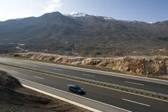 New highway in Croatia Stock Images