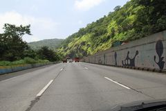 New Highway in India Stock Images