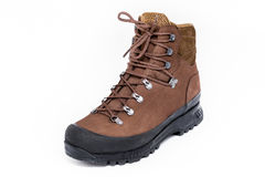 New hiking boot on white background Stock Photography