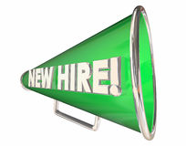 New Hire Bullhorn Megaphone Employee Welcome Royalty Free Stock Images