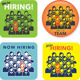 New Hire Buttons Royalty Free Stock Images