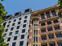 A new and a historic building in Melbourne Royalty Free Stock Photos