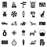 New holiday icons set, simple style Royalty Free Stock Photo