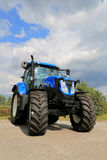 New Holland T7.185 Agricultural Tractor on Display, Vertical Vie Royalty Free Stock Photos