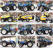 New Holland Tractors Royalty Free Stock Photography
