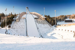 New Holmenkollen ski jump in Oslo Royalty Free Stock Images