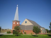 New Holy Rosary church, Pine Ridge, South Dakota Stock Photos