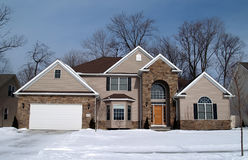 New Home. A newly constructed home in a suburban development Royalty Free Stock Photography