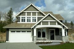 New Home. Built on eagle mountain in Abbotsford, BC Stock Images