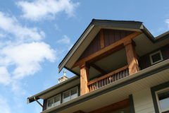 New Home. Craftsman home taken from a close perspective Royalty Free Stock Images