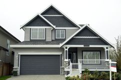 New Home. For sale in Langley, Bristish Columbia Stock Photography