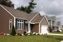 New Home. Newly completed Resident home and completed with landscaping Royalty Free Stock Photo