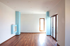 New home. Empty house apartment living room Stock Images