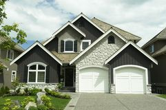 New Home. Exterior elevation of a new home built in Vancouver, BC Royalty Free Stock Photography