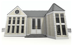 New Home 3d Image Stock Photography