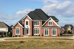 New Home. Beautiful large new custom built home Stock Images