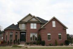 New home. Brick home Stock Photo
