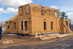 New Home. Construction site Royalty Free Stock Photography